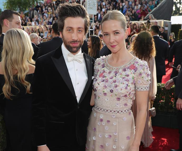 *Big Bang* actor Simon Helberg with his wife Jocelyn Towne.