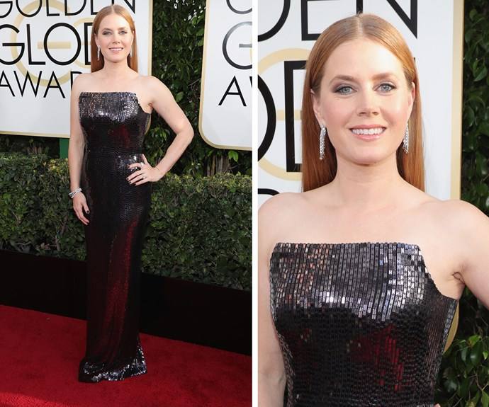Amy Adams used her red carpet time to give a shout-out to her daughter Aviana.