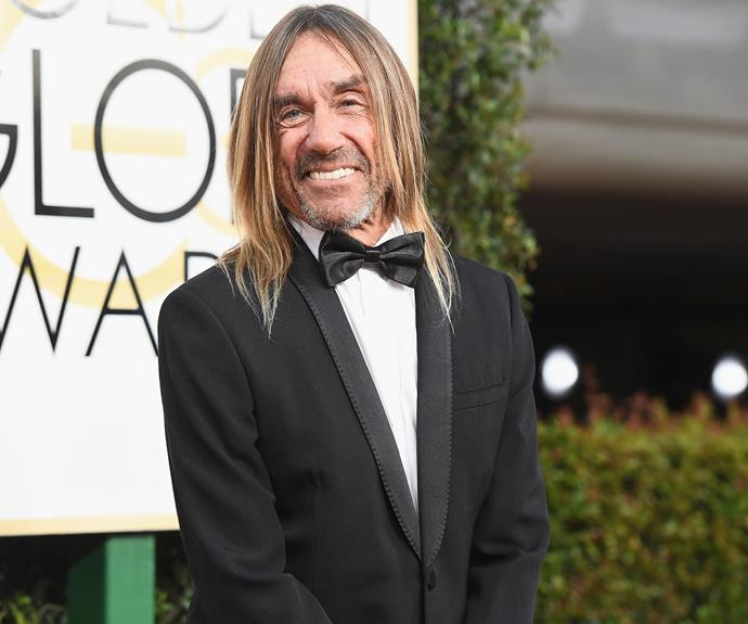 Music legend Iggy Pop scrubbed up in a tux.