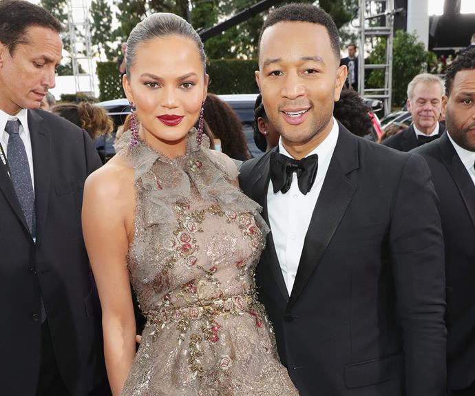 Chrissy Teigen and John Legend enjoy a date night out.