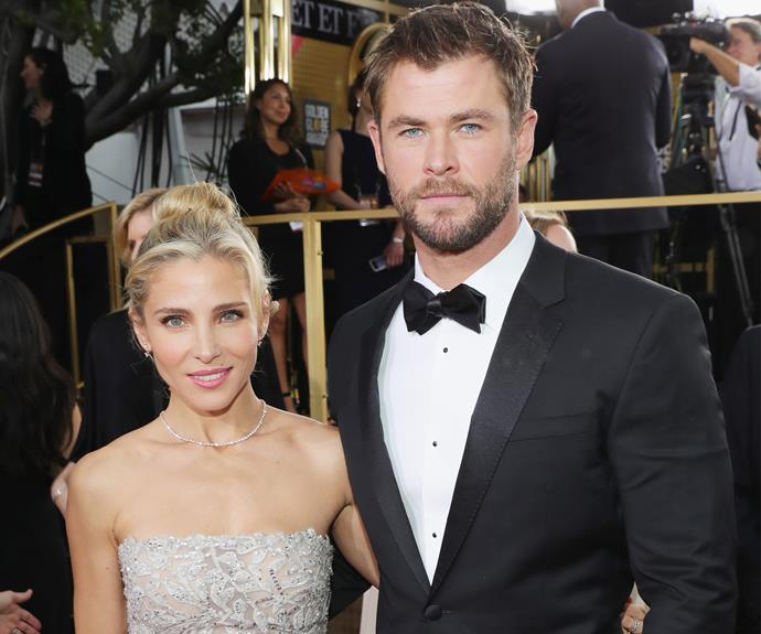 "Elsa Pataky and Chris Hemsworth put their best foot forward. Ahead of their arrival, Aussie actor Chris took to Instagram to gush: ""Look at my hot date."""