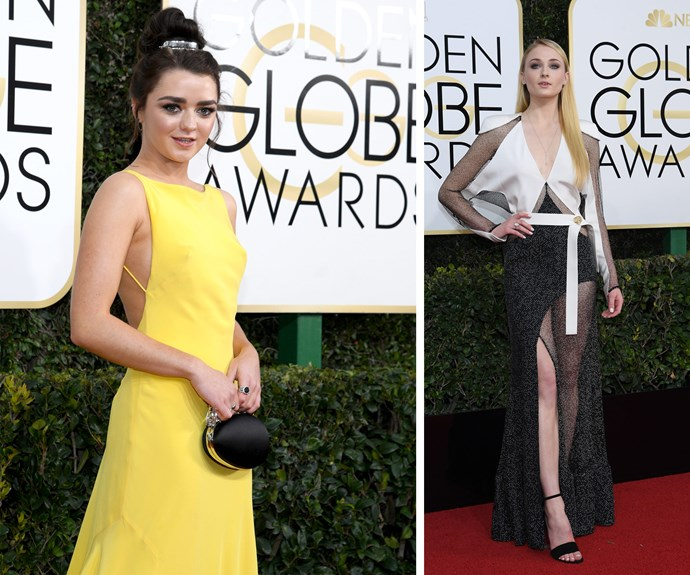 *Game of Thrones* besties Maisie Williams and Sophie Turner.