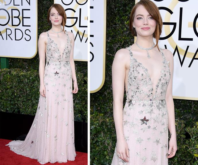 We're going La La over Emma Stone's Globe's number.