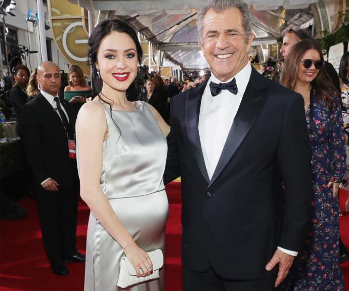 Mel Gibson, 61, with his pregnant partner 26-year-old Rosalind Ross.