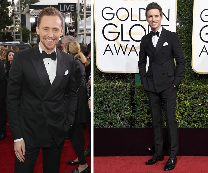 Dashing Brits Tom Hiddleston and Eddie Redmayne.