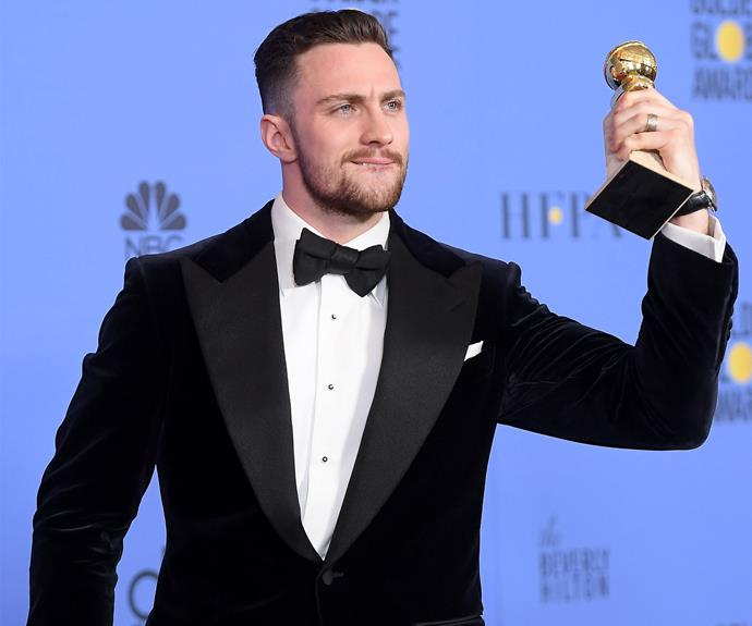 Aaron Taylor-Johnson is 2017's winner for Best Supporting Actor in a Motion Picture for his role in *Nocturnal Animals*.