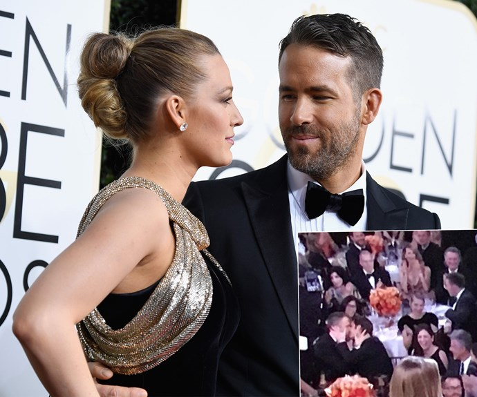 Ryan Gosling may have won the award for best actor... But Ryan Reynolds won the best reaction to losing an award. Dealing with the fallout, the *Deadpool* actor decided to lock lips with fellow nominee Andrew Garfield.