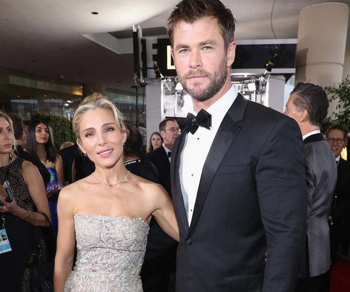 Gliding through the ceremony, Chris Hemsworth and his stunning wife Elsa.
