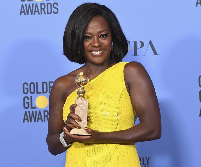 Viola Davis is flawless as she accepts the Best Supporting Actress honour for her role in *Fences*.