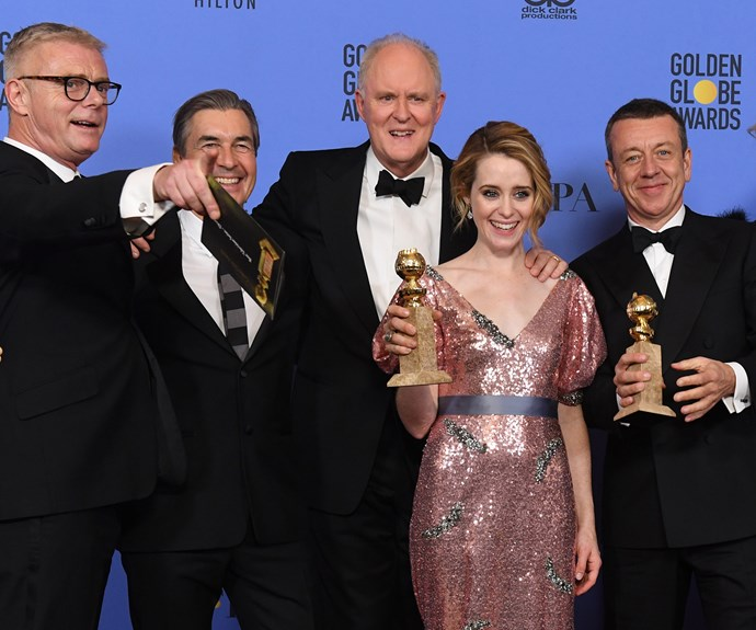Winning big! *The Crown* also scooped up the Golden Globe award for Best Television Series - Drama.
