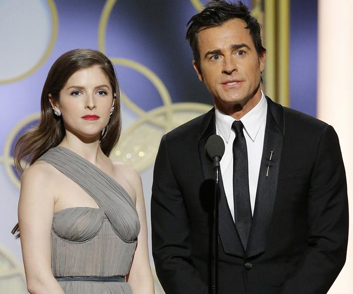 Just minutes before Brad's appearance, Justin Theroux and Anna Kendrick also presented an award. Things could have been awkward had Brad and Justin bumped into each other backstage...