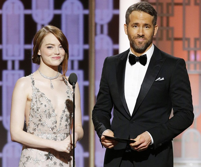 Emma Stone and Ryan Reynolds made for an adorable presenting duo.