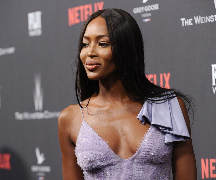 Naomi Campbell was a vision in this dreamy lilac dress at the *Netflix* soiree.