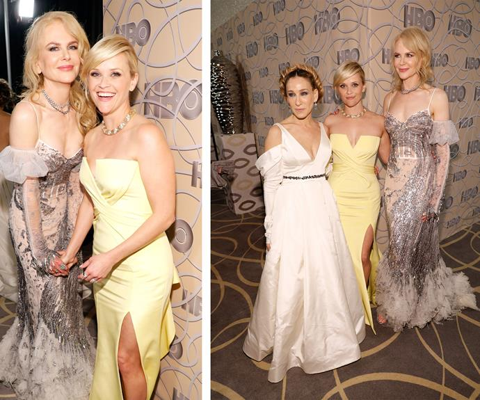 Nic also mingled with her *Big Little Lies* co-star Reese Witherspoon and actress Sarah Jessica Parker.