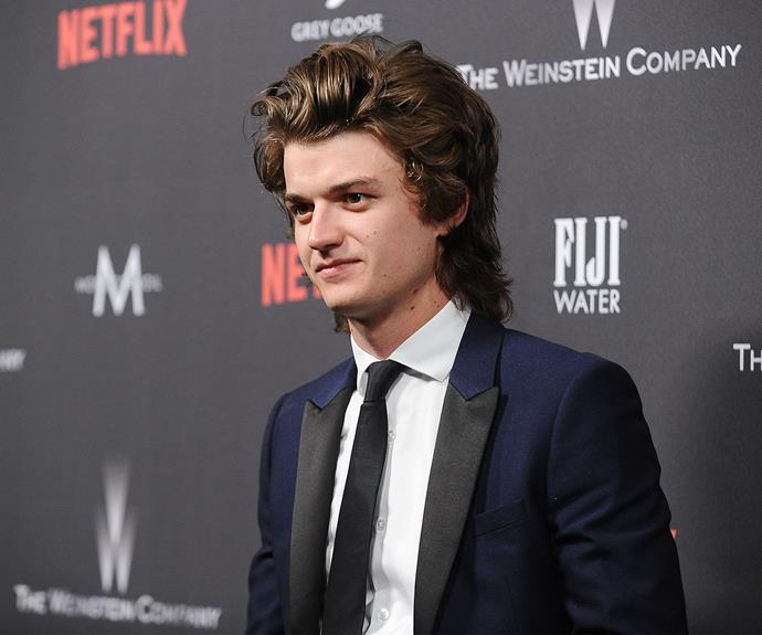 *Stranger Things* star Joe Kerry looked dapper in a tux.