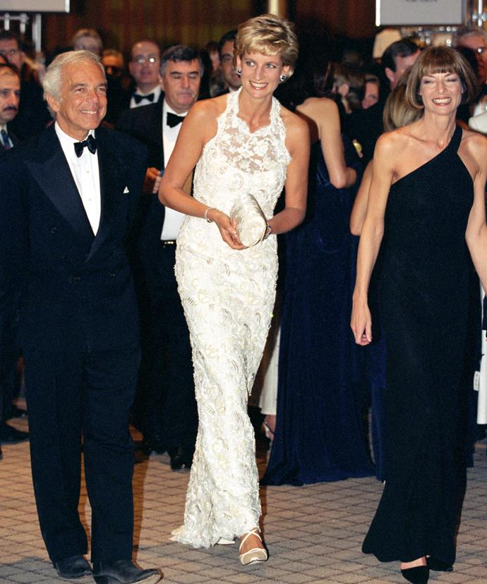 Diana dressed in one of Said's favourite Catherine Walker designs.