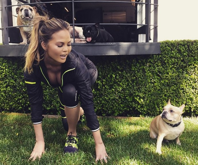 """""""From work day to work out! Thanks @reebok for my #ZPump shoes! Can I just pump them or do I actually have to run?"""" asks the model mumma."""