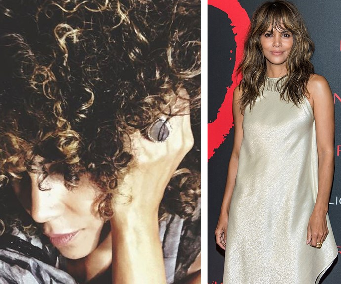 "One day she's rocking long, wavy locks, the next, a gorgeous mop of tightly wound curls! Halle Berry debuted her new 'do on Instagram [just days after finalising her divorce from ex-husband Olivier Martinez](http://www.etonline.com/fashion/207072_halle_berry_goes_makeup_free_rocks_gorgeous_curls_for_girls_night_out/|target=""_blank""