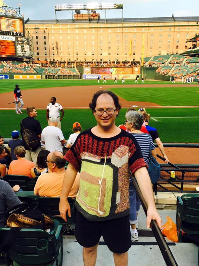 Take me out to a ballgame... in your matching knitted t-shirt!