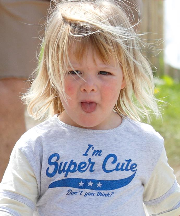 "Little Mia is 17th in line to the throne... But for now she's focusing on being ""Super Cute""."