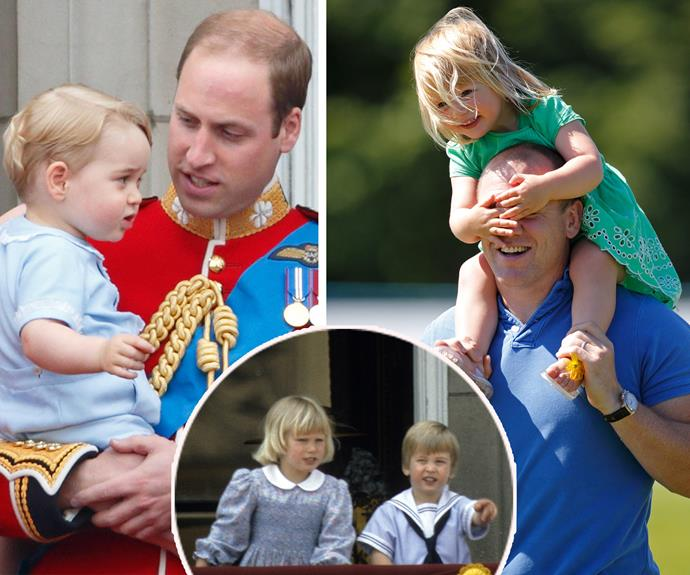 The apple doesn't fall far from the tree... History repeats itself with cousins Prince William and Zara's little ones.