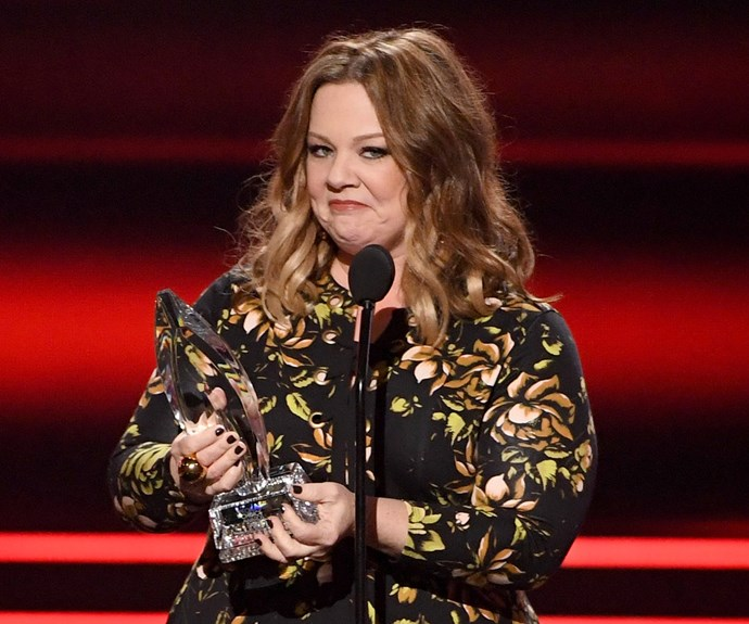 A chuffed Melissa McCarthy adds another coveted award to her growing collection.