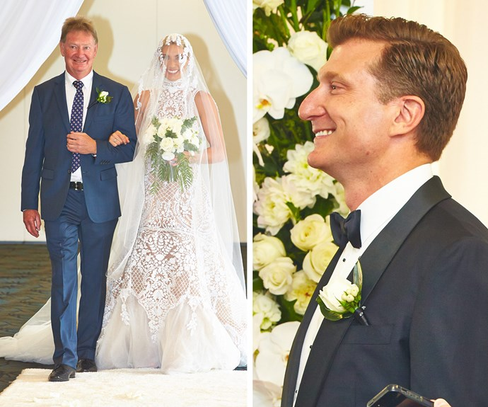 """Oh, wow!"" gasped Simon when he finally saw his bride."
