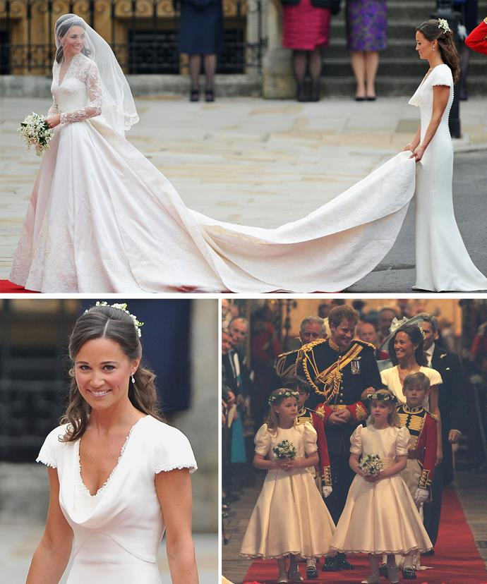 Pippa dazzled as Catherine's maid of honour.