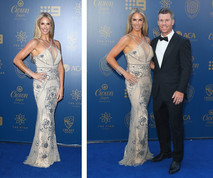 Talk about glamour! David and Candice Warner step out for date night, leaving their two daughters at home for a night on the town.