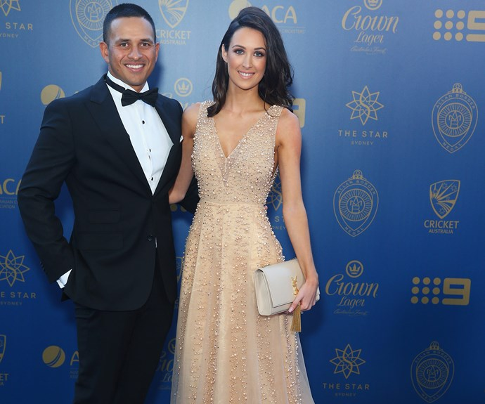 Our pick for best dressed was undoubedtly Usman Khawaja's leading lady, Rachel McLellan, who kept things neutral in a beaded, nude number.
