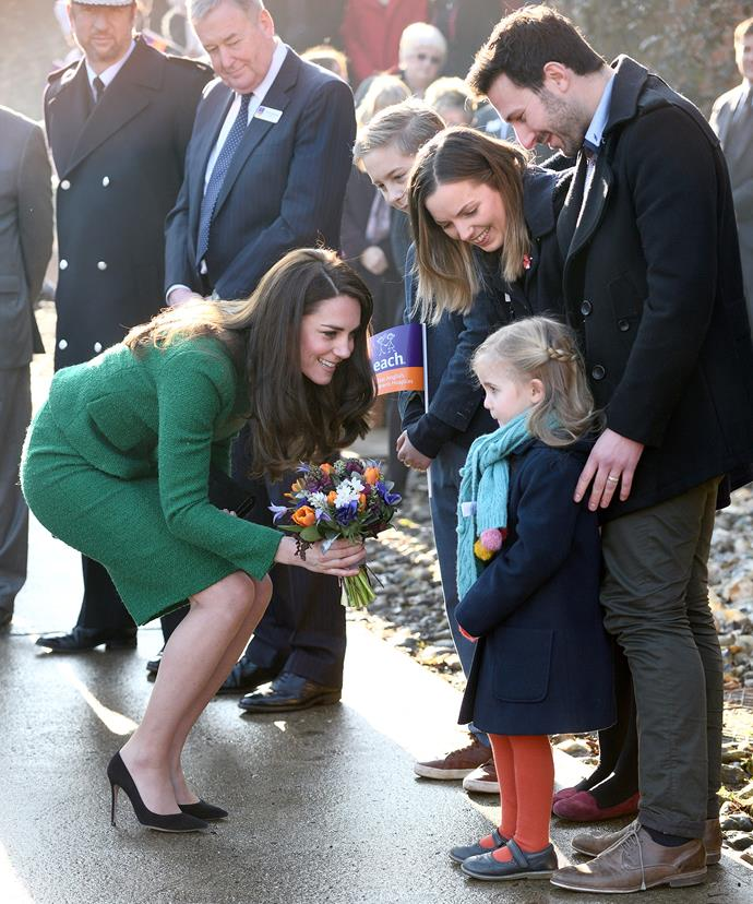 Young Nell was very shy when meeting the real life Princess.