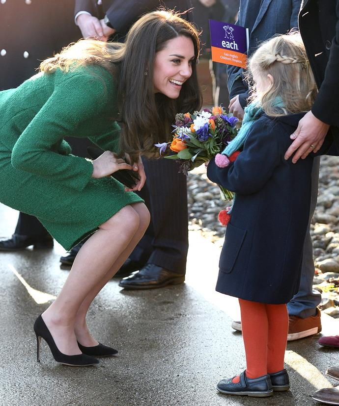 Kate recorded the message when she visited Quidenham's East Anglia's Children's Hospice on Tuesday, January 24.
