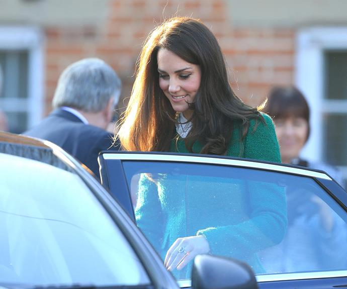 Catherine was all smiles as she left the hospice.