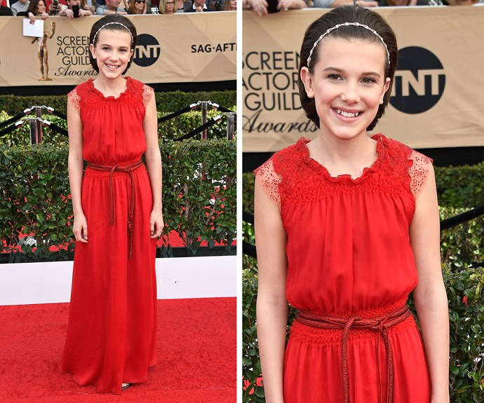 The 12-year-old has won a legion of fans thanks to her role as Eleven on the show.