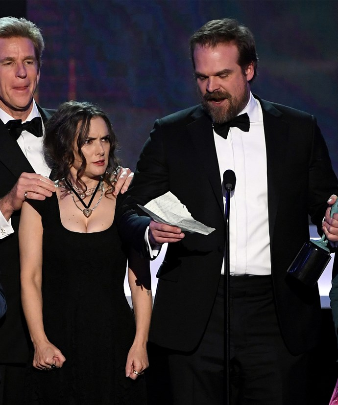 Fans took to social media to praise Winona Ryder's hilarious reaction to the show's win!