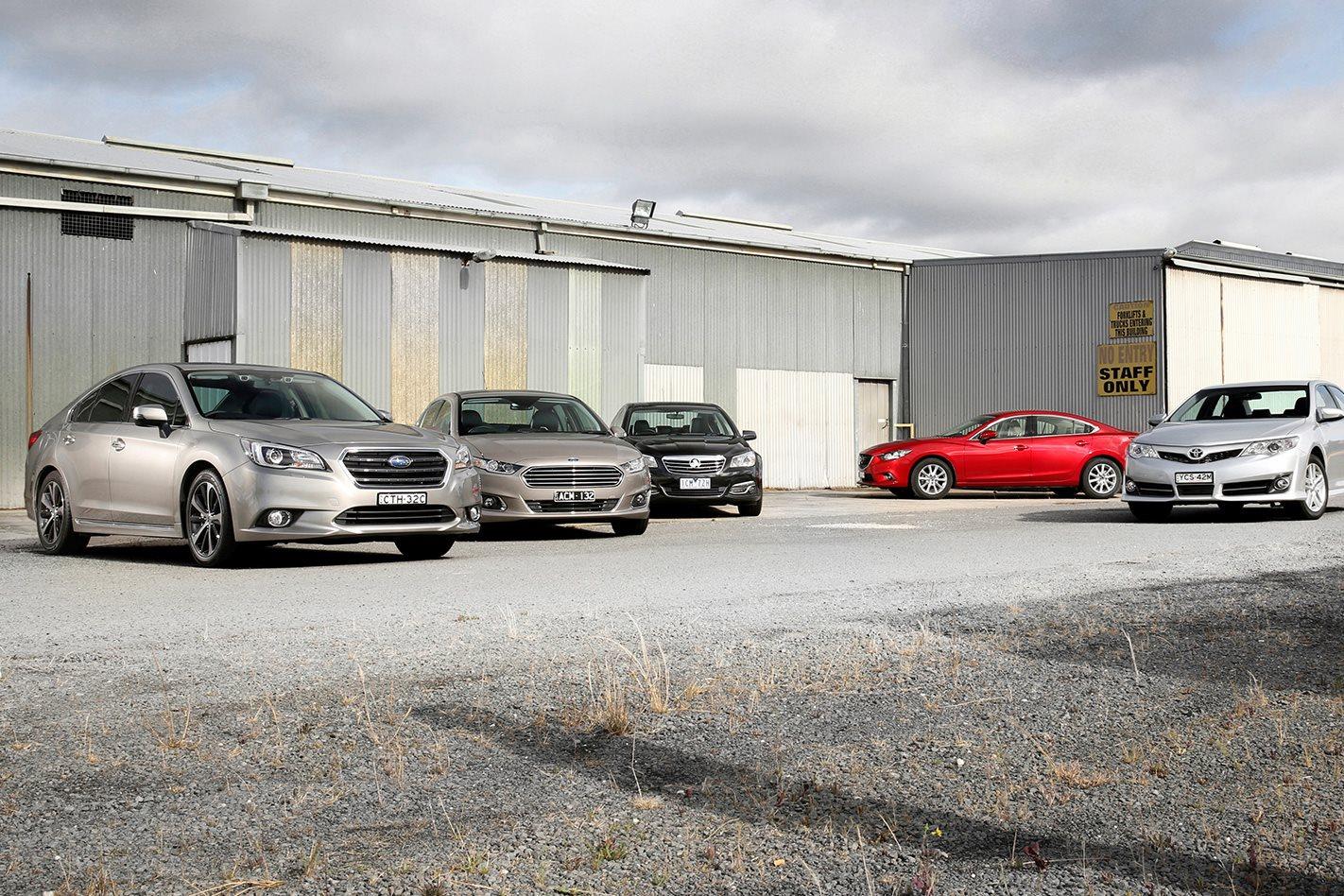 Mazda 6 vs subaru liberty 2015