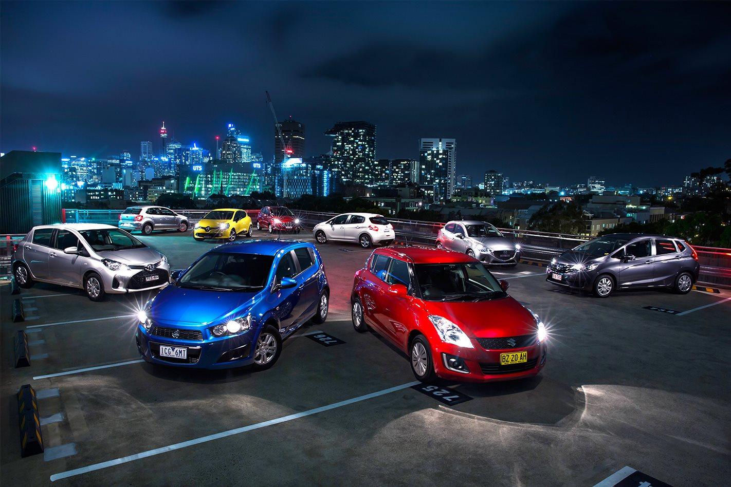 VW Polo v Mazda 2 v Renault Clio v Peugeot 208 v Honda Jazz v Suzuki