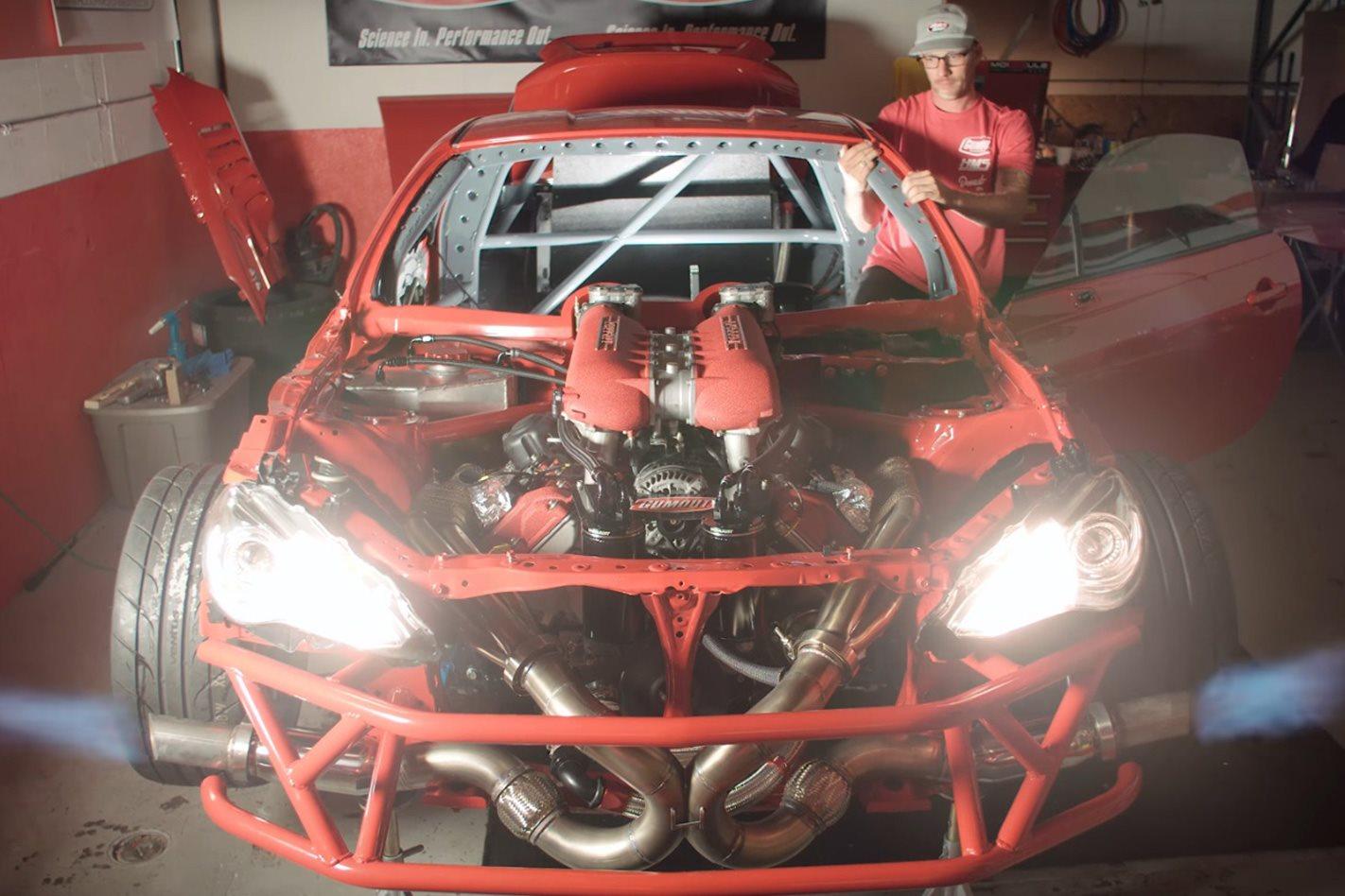 Toyota 86 Receives Ferrari 458 V8 Engine Swap