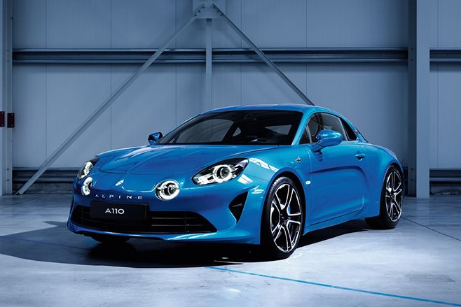 Alpine A110 front side