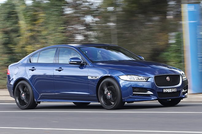 2016 Jaguar XE on road