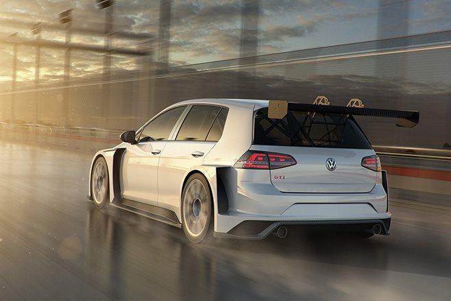 VW Golf GTI TCR racer rear