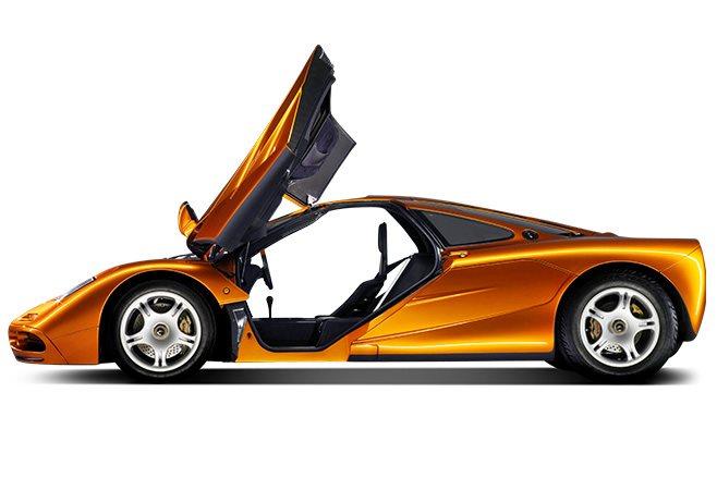 McLaren F1 doors open