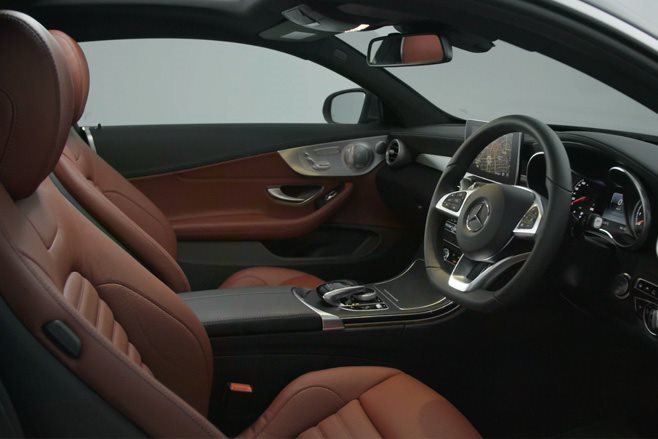 Mercedes-Benz C-Class Coupe interior