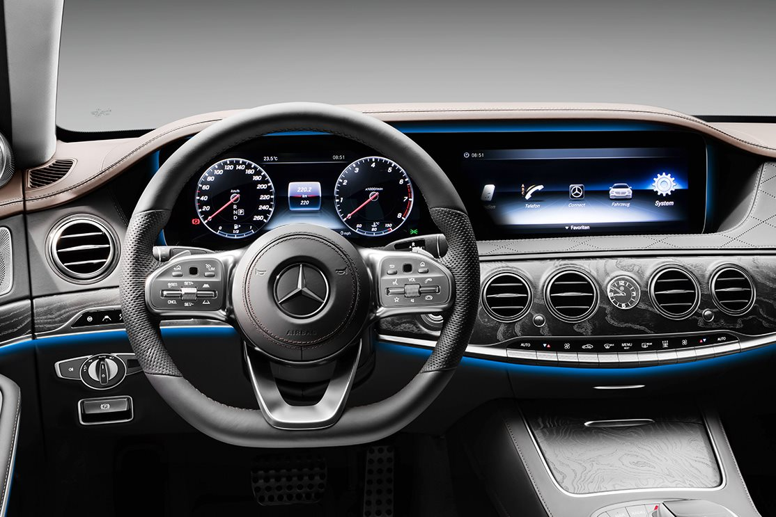2017 mercedes benz s class revealed for Mercedes benz s550 interior