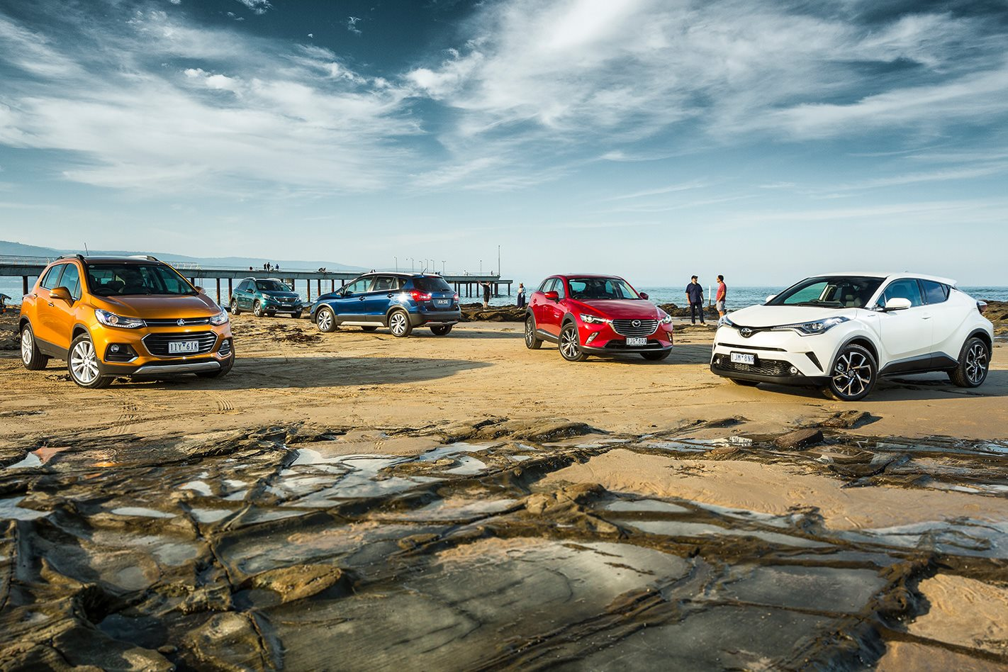 Toyota C-HR vs Peugeot 2008 vs Suzuki S-Cross vs Mazda CX-3 vs Holden Trax  - SUV Shootout