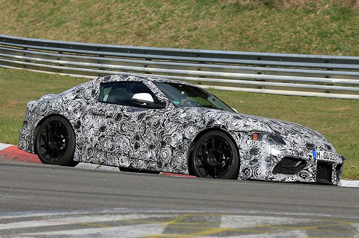 2018 toyota sports car. Wonderful Sports Reports Suggest That The Most Recent Outing Has Revealed A Number Of  Interior Components Are Shared With Sports Car Development Partner BMW  In 2018 Toyota S