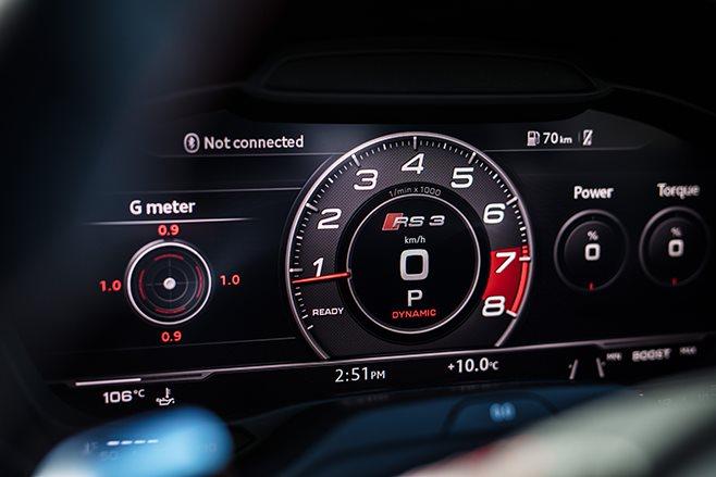 Audi RS3 virtual cockpit