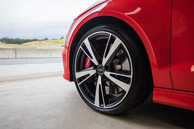 Audi RS3 five-arm wheels