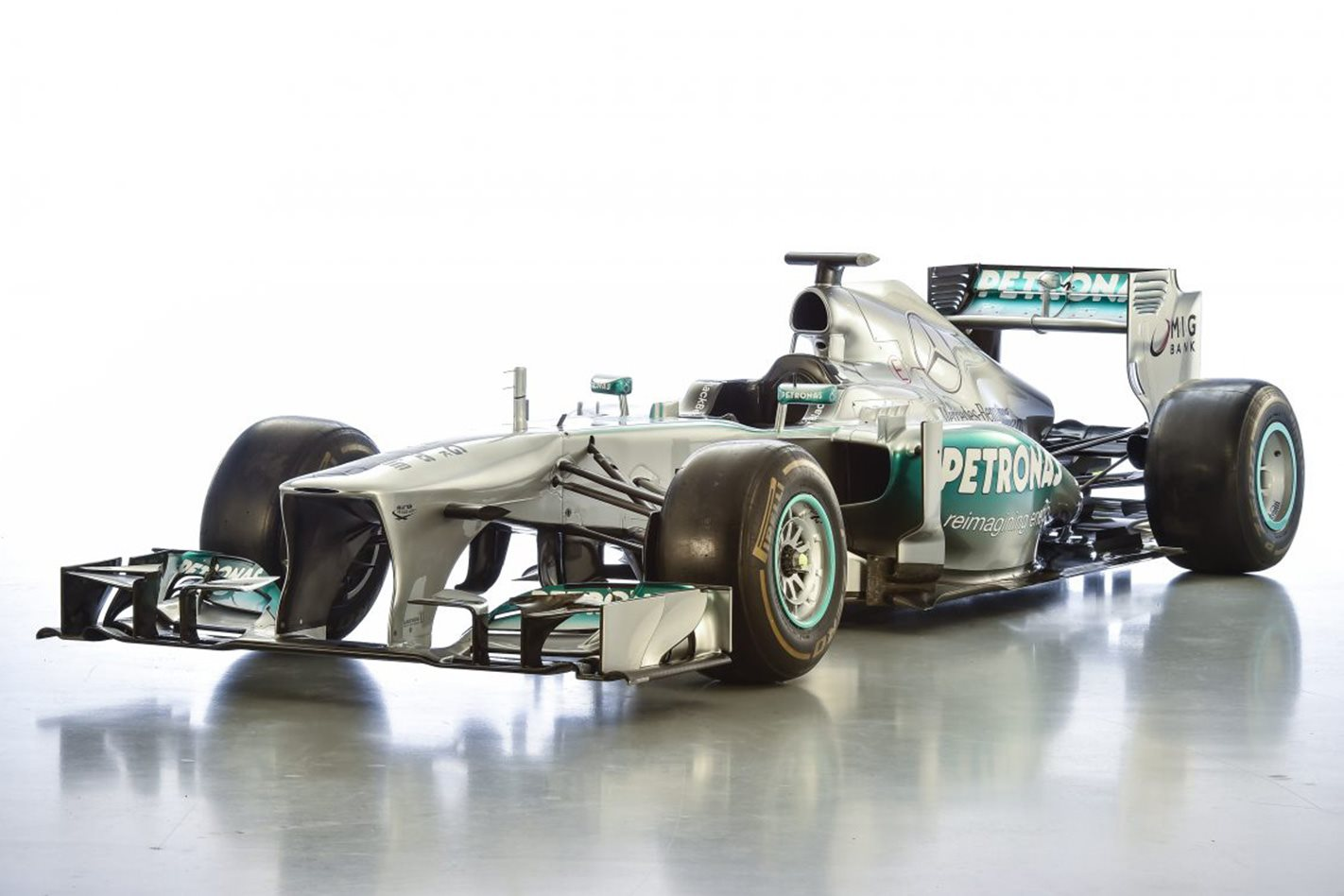 Lewis hamilton s first mercedes amg f1 car for sale wheels for Mercedes benz f1