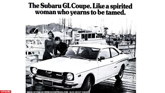 Subaru GL Coupe sexist car ad